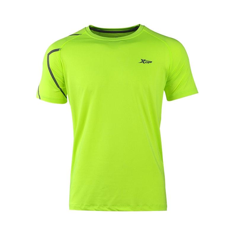 特步 夏季新款男子短袖T恤 清凉透气舒适百搭 运动T恤884129019219