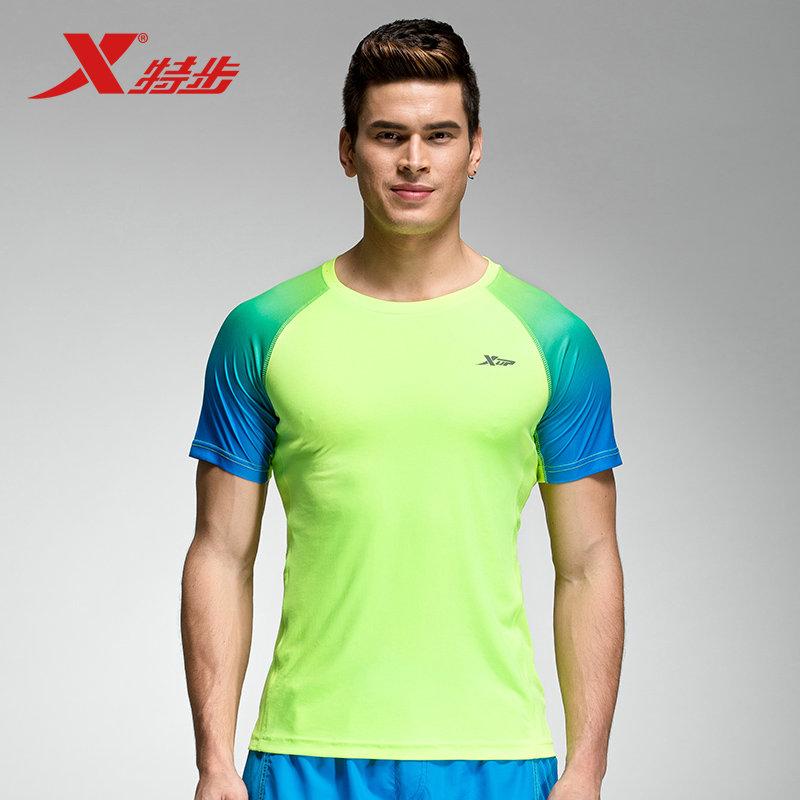 特步 新品男子T恤 夏季轻便舒适时尚 运动短袖
