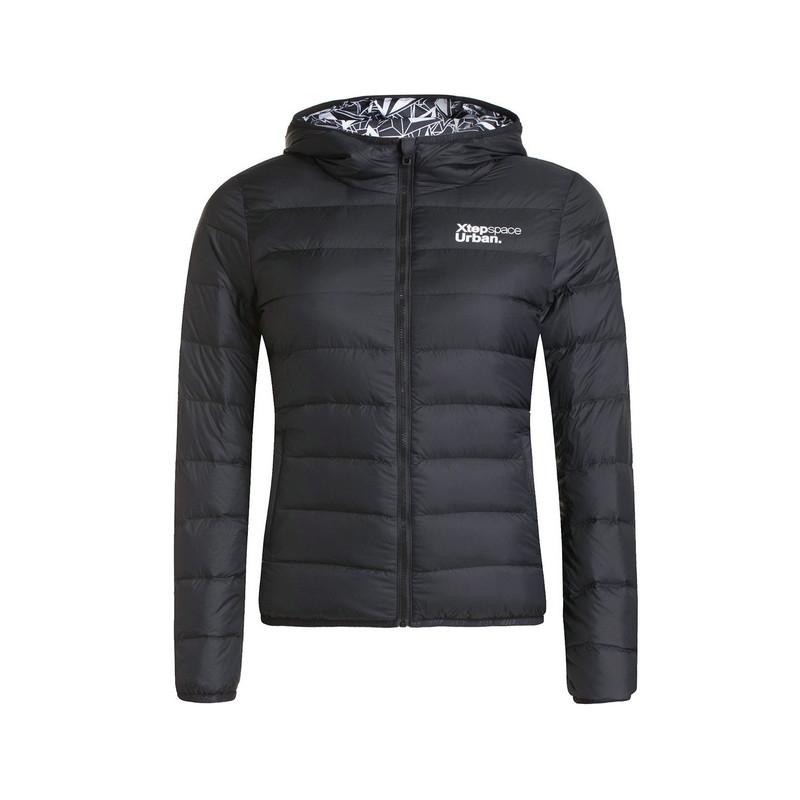 特步 专柜款   冬季女子羽绒服 保暖柔软舒适 轻质羽绒服984428190583