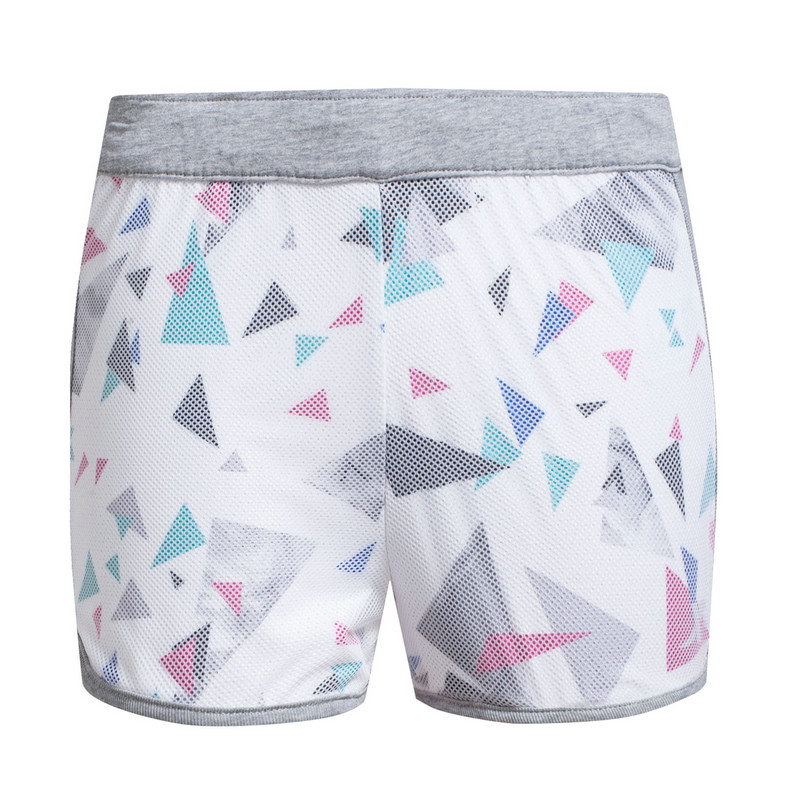 【明星同款】特步 专柜 女子针织短裤 明星款 炫彩几何运动裤983228600089