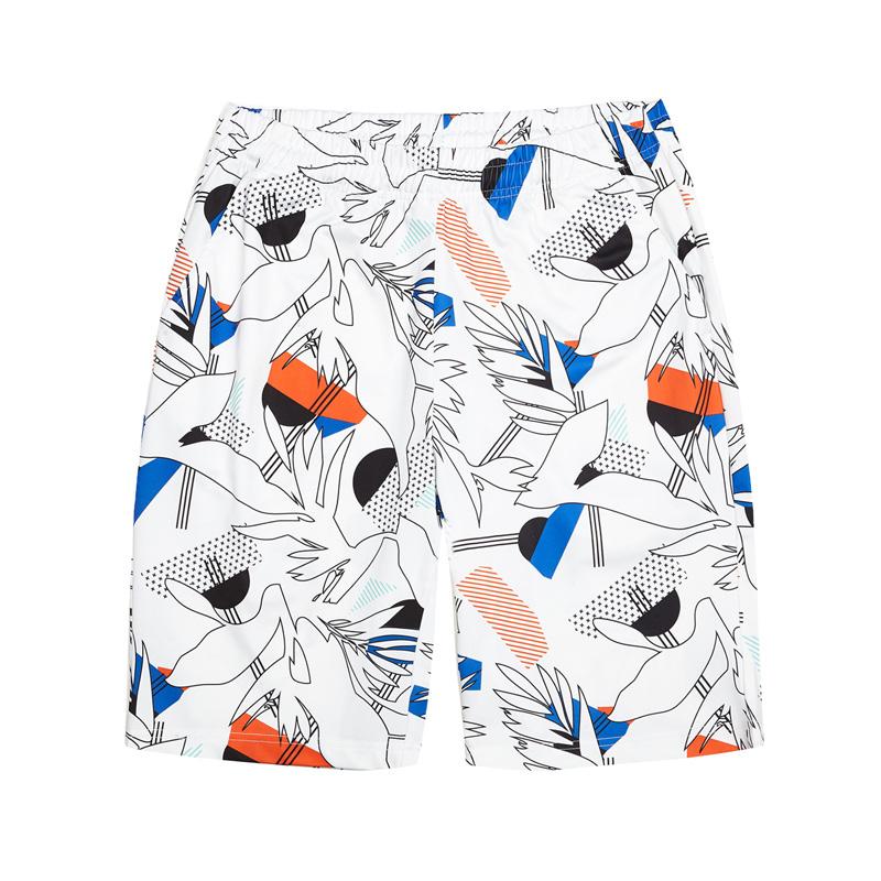 特步 专柜款 男子都市针织中裤夏季新品时尚休闲舒适短裤982229610182