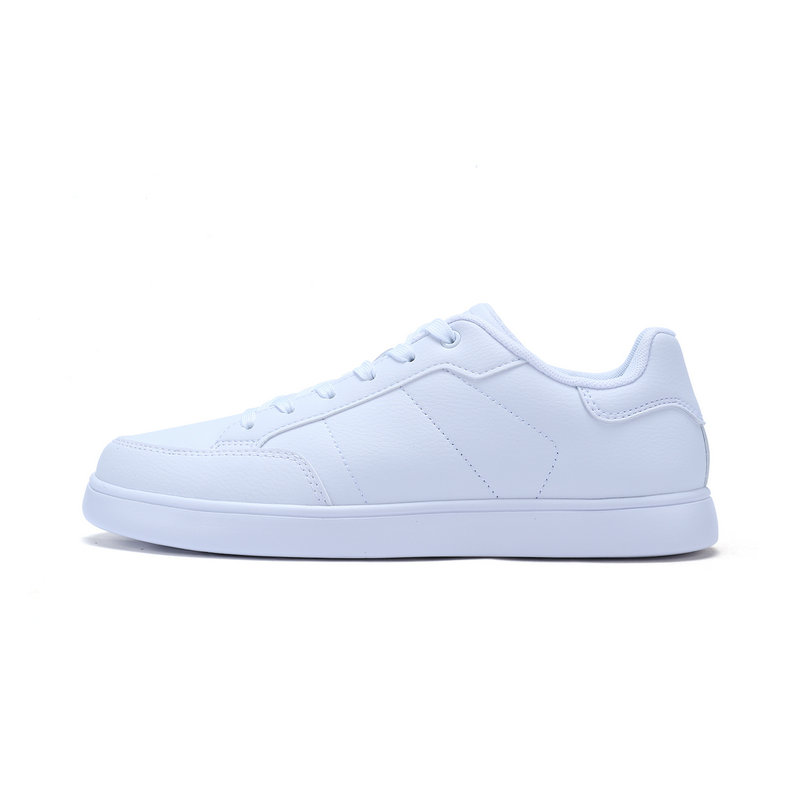 特步 专柜款 男子春季板鞋 简约潮流小白鞋982119315801