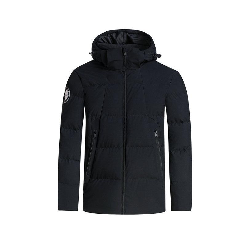 特步 专柜款  男羽绒服冬季款 校园保暖防风连帽外套983429190721