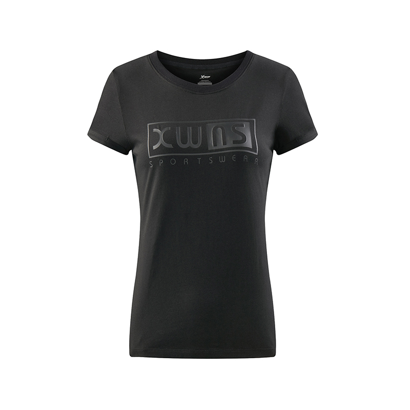 特步 女子夏季运动T恤 健身透气舒适女装882228019192