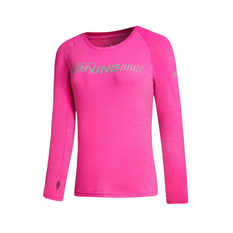 特步 女子卫衣 潮流纯色运动上衣882128039117