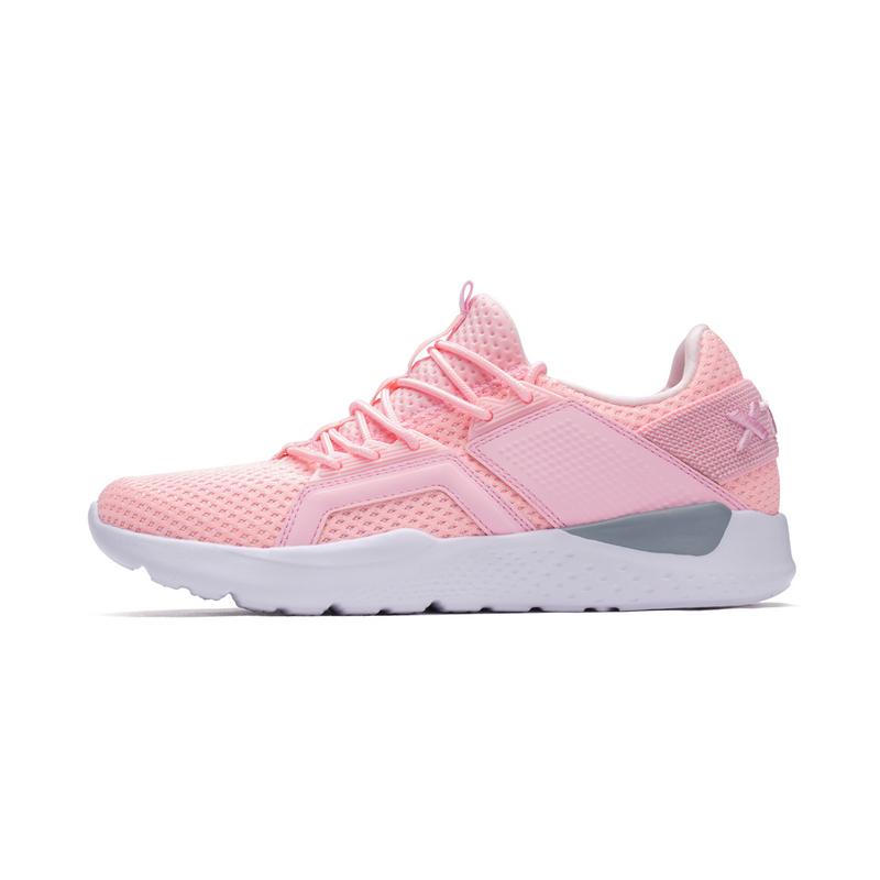 特步 女子夏季休闲鞋 一体织网面时尚女鞋982218329520