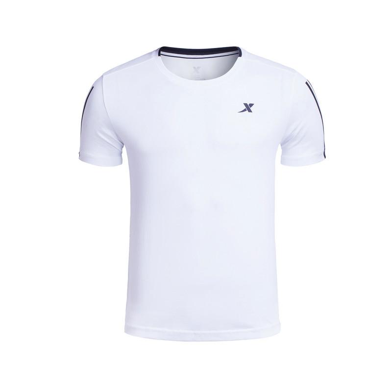 特步 专柜款 男子夏季短T恤  新品针织短袖 透气舒适男上衣983229011785