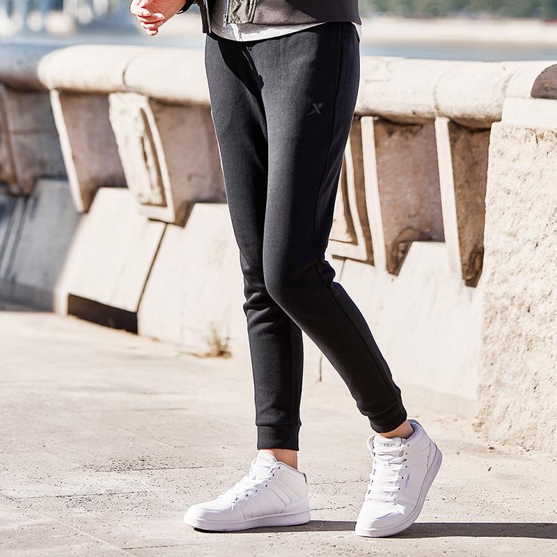 特步 专柜款 女子针织长裤 时尚舒适裤子 882128639140