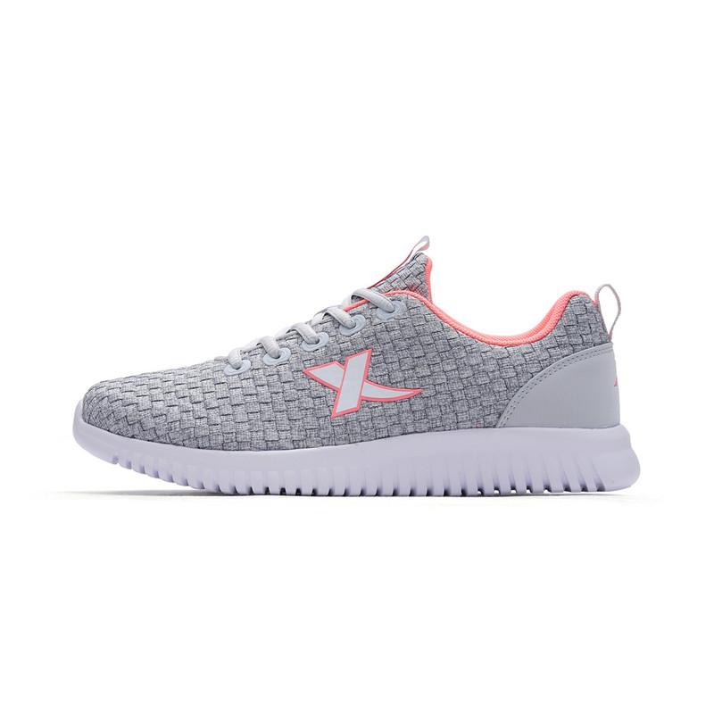 特步 女子跑步鞋 2018新品减震轻便舒适简约防滑健身女跑鞋982218119808