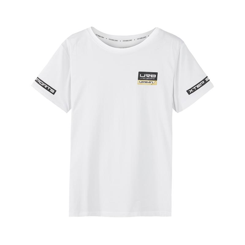特步 专柜款 男子夏季都市休闲舒适轻便针织衫T恤982229012181