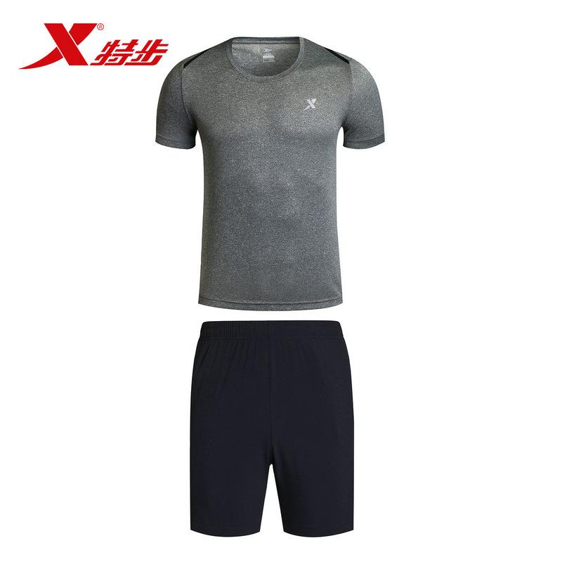 特步男子夏季跑步套装 17新品 舒适轻便男套装883229959349
