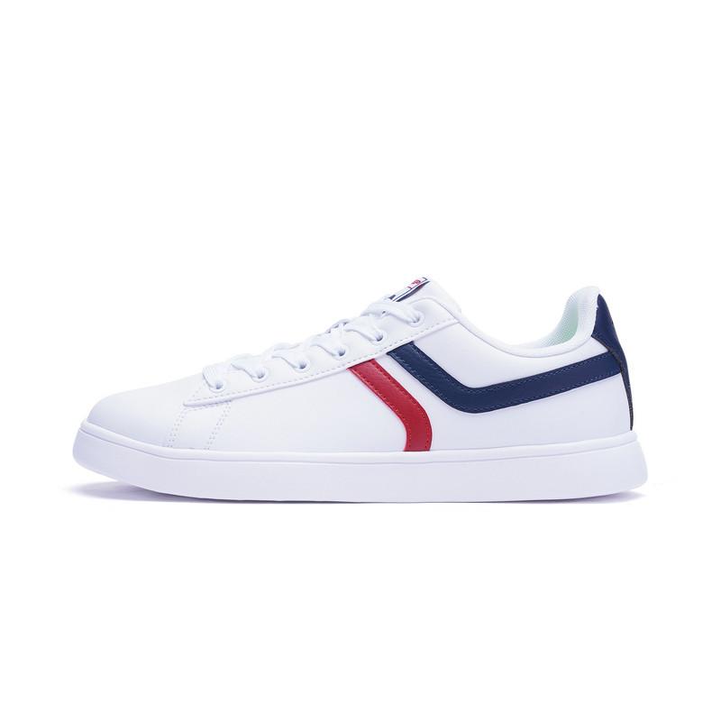 特步 专柜款 男子夏季板鞋 潮流π系列小白鞋982219315865