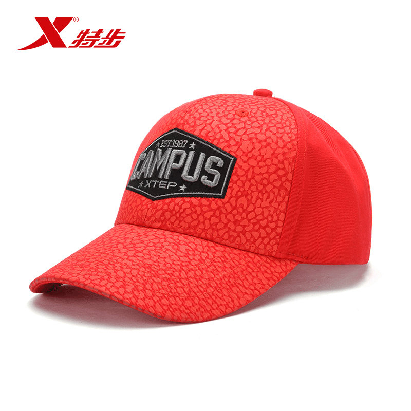 特步 运动帽男女帽子夏季户外运动太阳帽时尚鸭舌运动帽884337219019