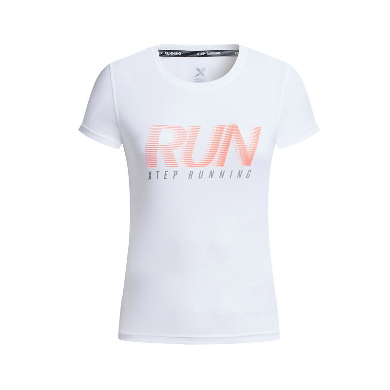 特步 专柜款 女子夏季T恤 17新品跑步健身运动 短袖针织T恤983228011730