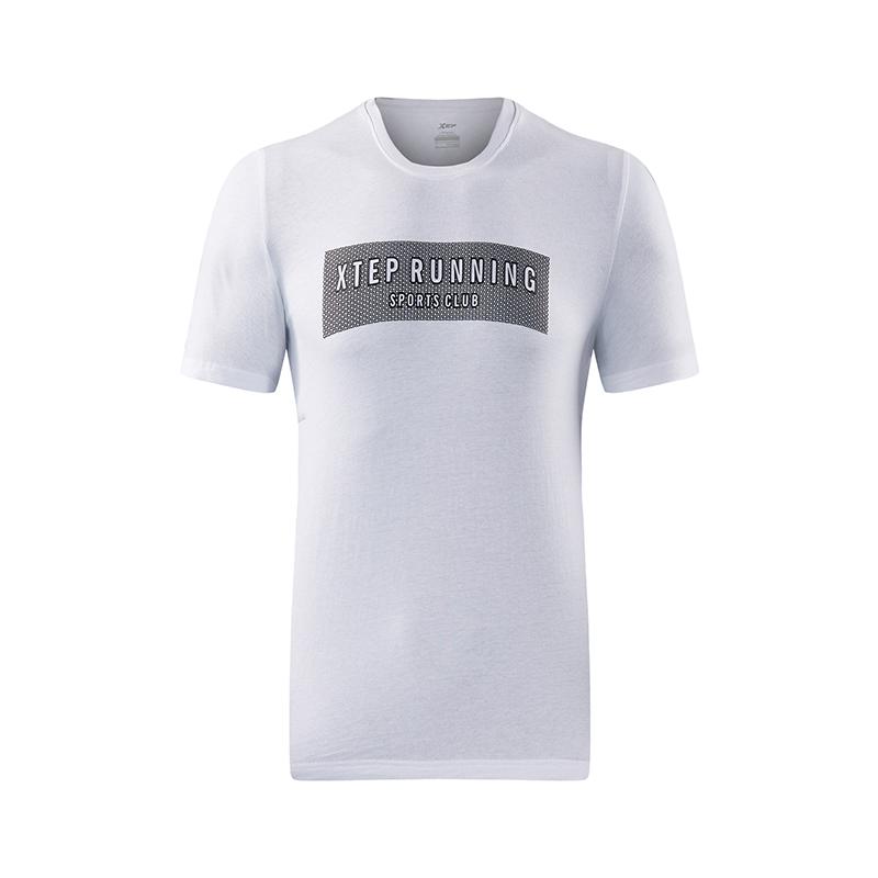 特步 男子运动T恤   休闲圆领字母运动上衣短袖882229019210