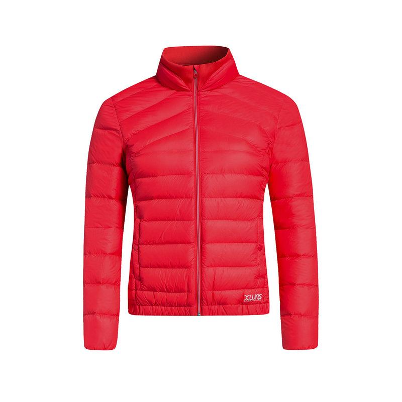 特步 女子羽绒服 冬季新款 综训系列保暖轻便百搭立领纯色休闲外套883428199637