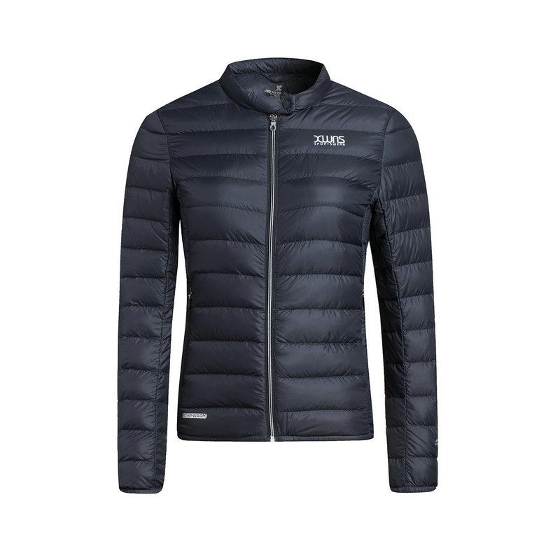 特步 专柜款 女子羽绒服 新品短款轻薄保暖外套983428190610