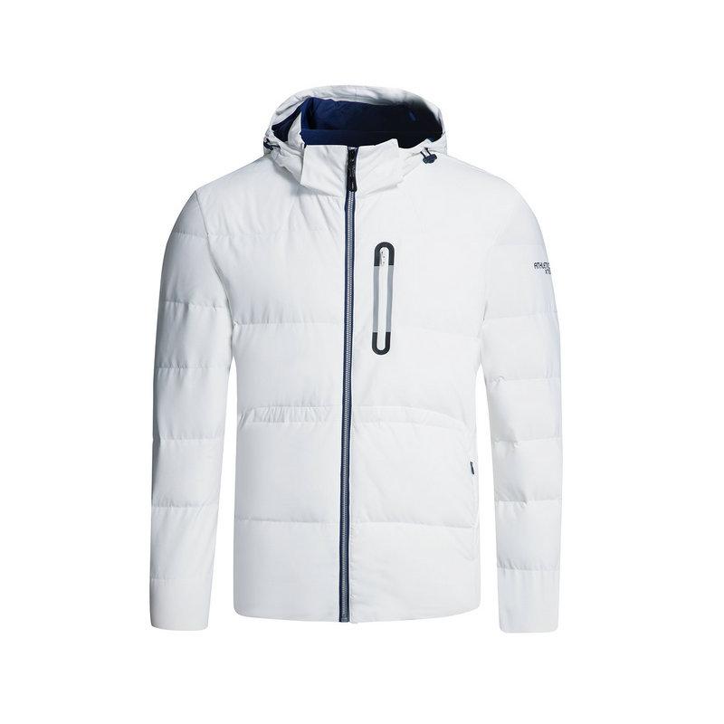 特步 专柜款特步男羽绒服冬季款 运动文化保暖连帽外套983429190652
