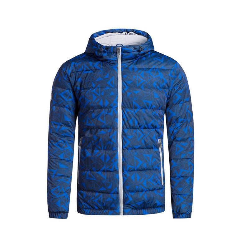 特步 男子羽绒服 冬季新款 生活系列保暖防风舒适休闲运动连帽外套883429199023