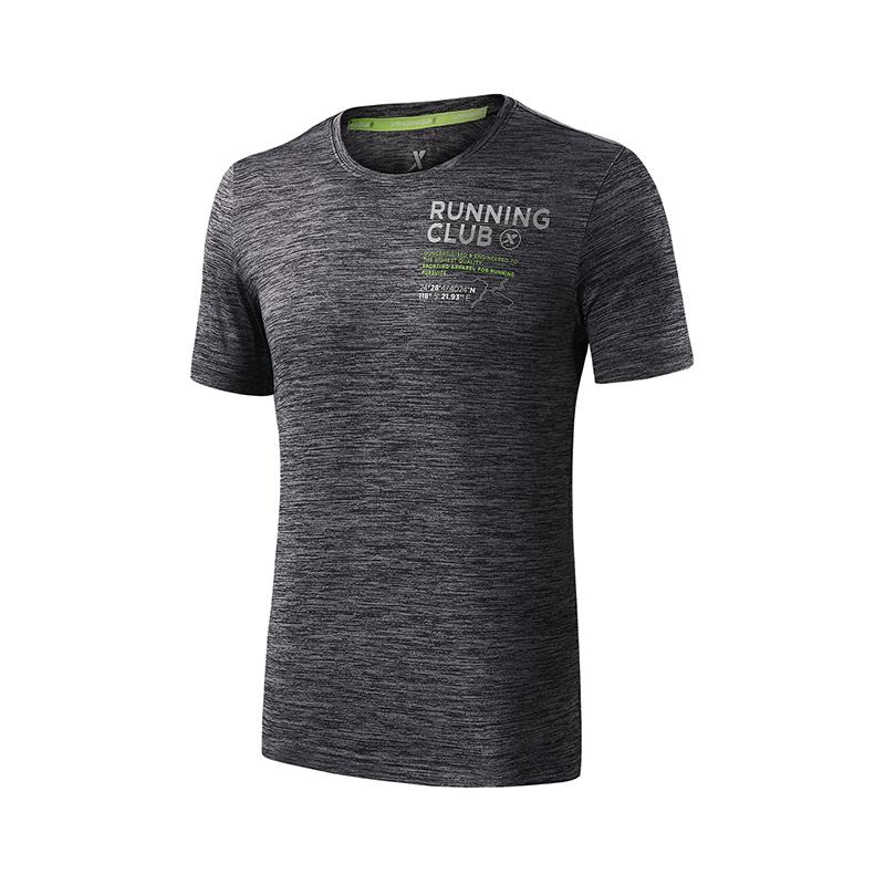 特步 专柜款 男子短袖针织衫  舒适跑步运动T恤982229012263