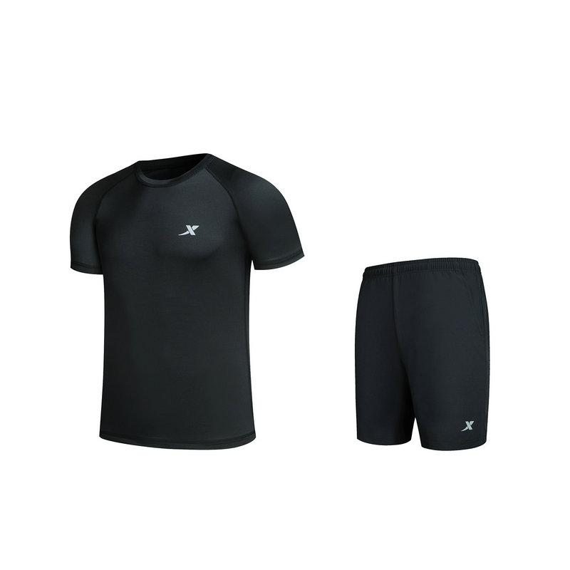 特步 男子针织跑步套装 舒适运动服882129959300