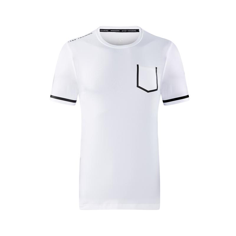 特步 专柜款 男子短袖针织衫 休闲舒适 上衣982329012410