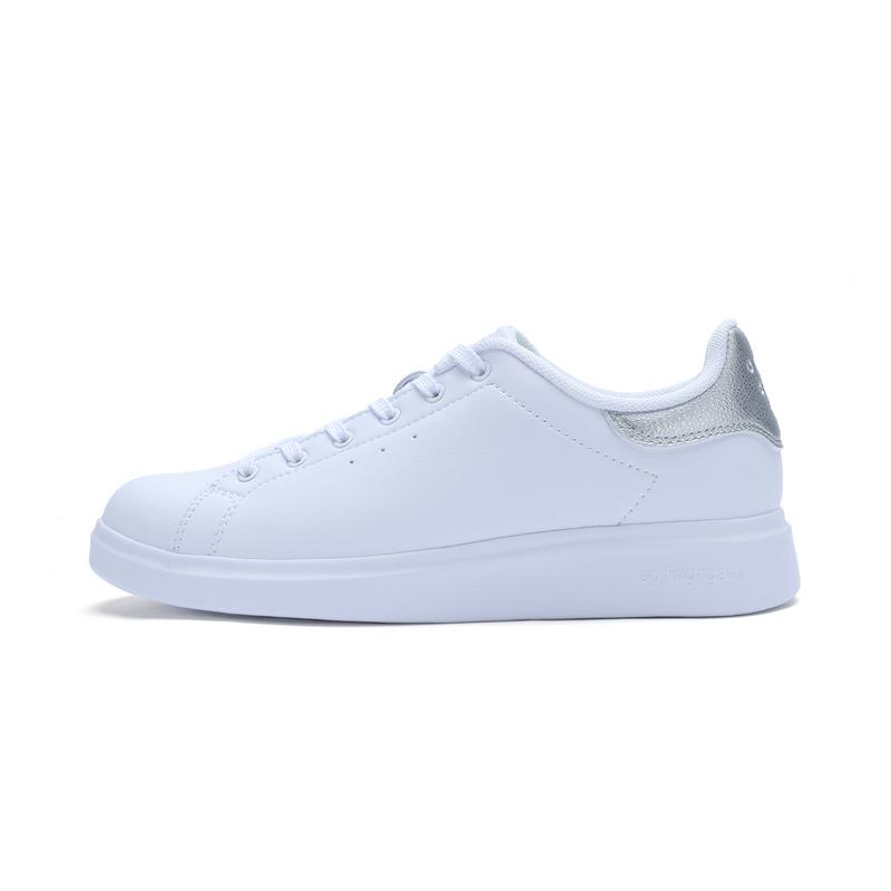 特步 专柜款 女子夏季板鞋 百搭小白鞋982218315839