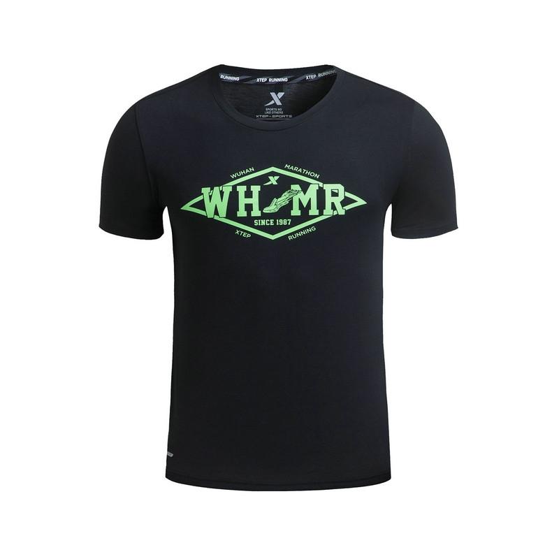 特步 专柜款 男子夏季跑步T恤 17新品透气舒适跑步运动针织衫983229011729