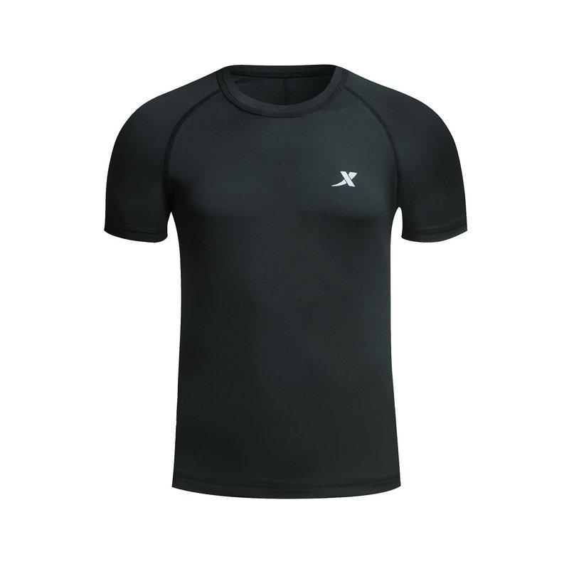 特步 男子短袖针织衫春季款 跑步舒适圆领运动T恤882129019176