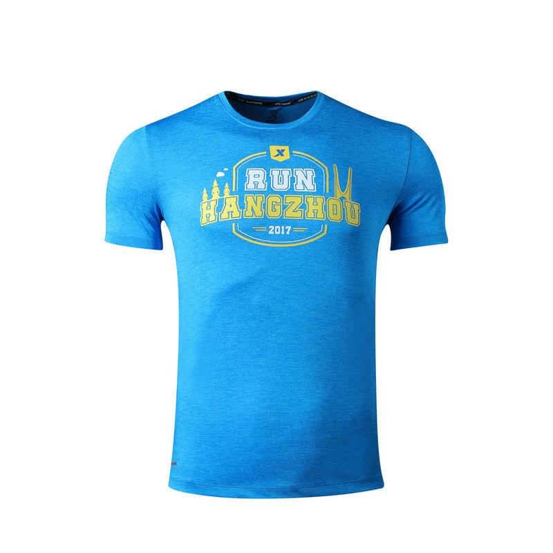 特步 男女T恤 杭州马拉松纪念款跑步运动舒适清爽短袖针织衫983429012296