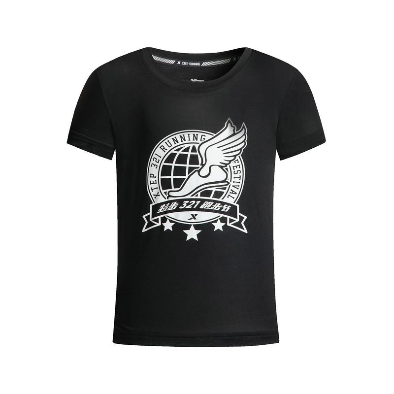 特步 男童夏季短袖针织衫 透气舒适儿童T恤883225019326