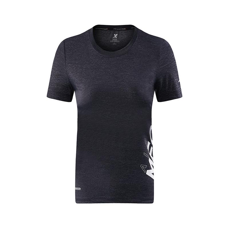 特步 专柜款 女子夏季跑步T恤 吸湿透气健身运动短袖982228012233