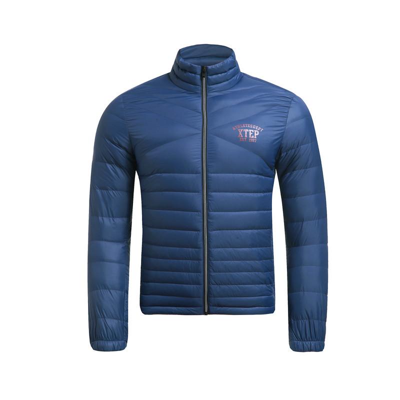 特步 专柜款 冬季新款男子羽绒服 时尚立领修身保暖男外套984429190549