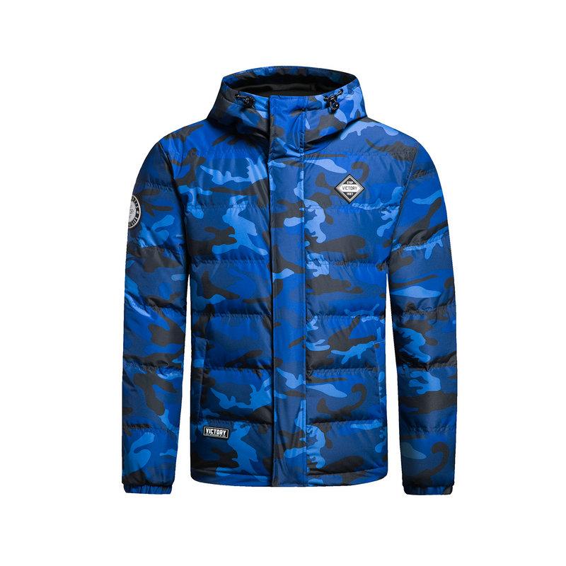 特步 专柜款 男羽绒服冬季款 校园时尚保暖连帽外套983429190752