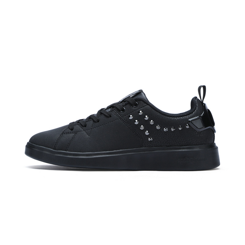 特步 专柜款 男子冬季板鞋 柔软垫 时尚铆钉板鞋 983419315780
