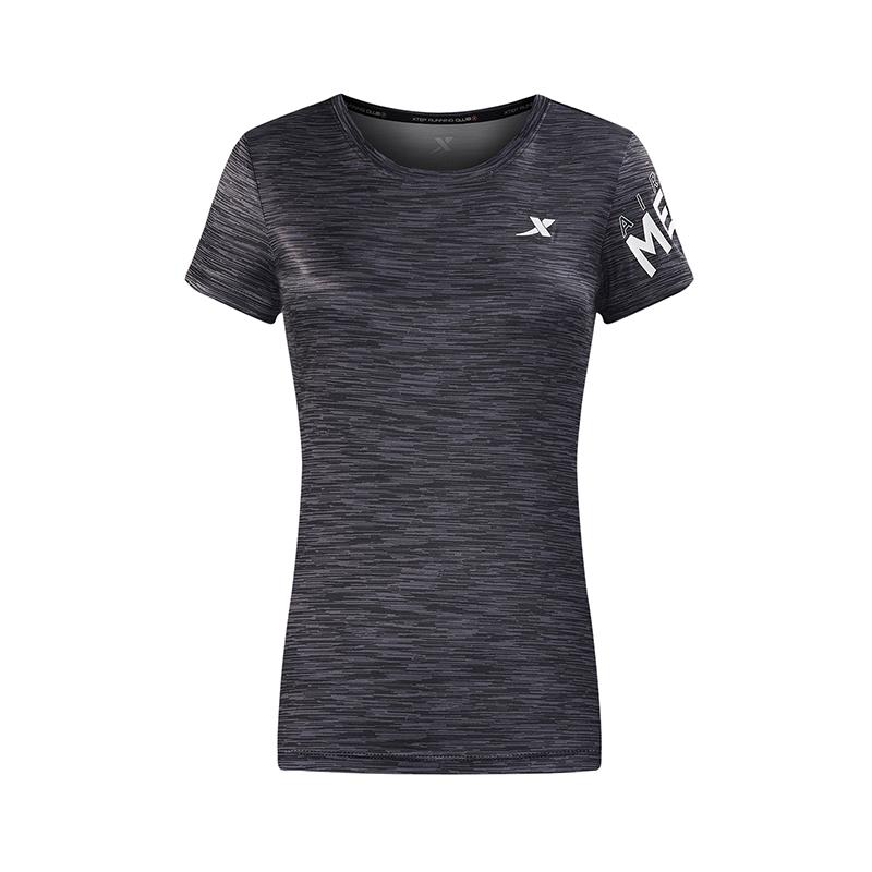 特步 专柜款 女短袖针织衫夏季新款轻薄舒适圆领女子运动上衣 982228012248
