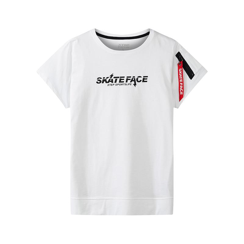 特步 专柜款 男子短袖针织衫T恤2018年夏季新款运动时尚舒适潮流透气休闲 982229012273