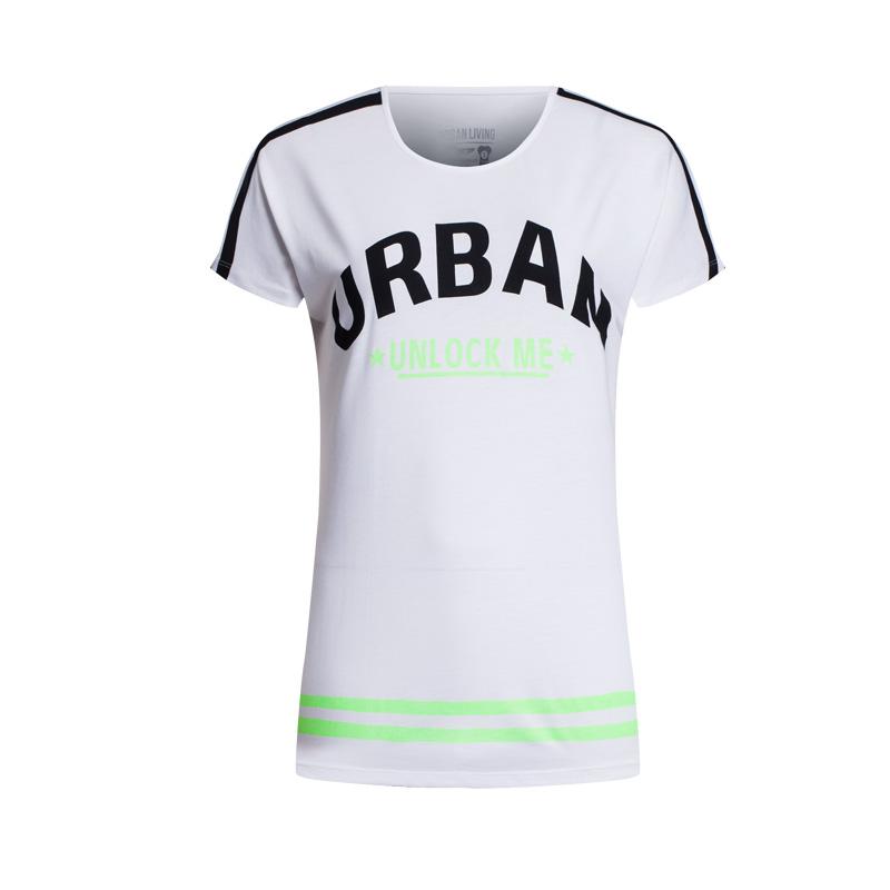 特步 专柜款   女子都市时尚舒适合身 女款短T恤984228011507