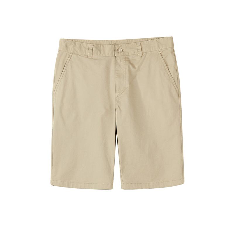 特步 专柜款 男子中裤夏季新品时尚纯色轻薄透气短裤休闲舒适五分裤子982229990007