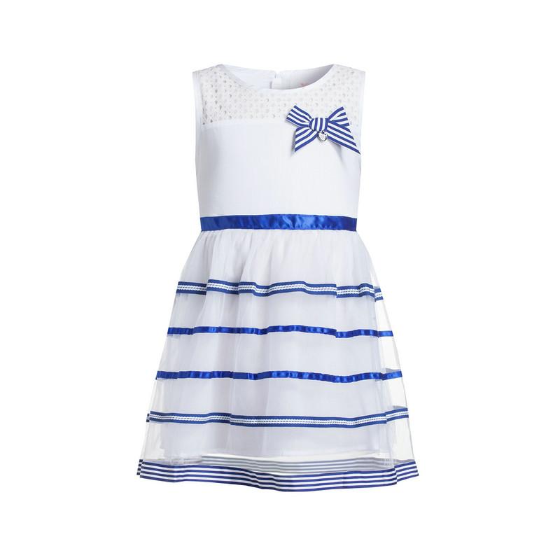 特步 专柜款 女童夏季背心裙 可爱时尚条纹网纱蓬蓬裙684224955232