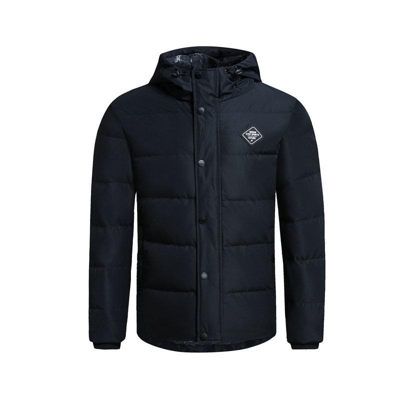 特步 专柜款 男子羽绒服 都市短款外套983429190690