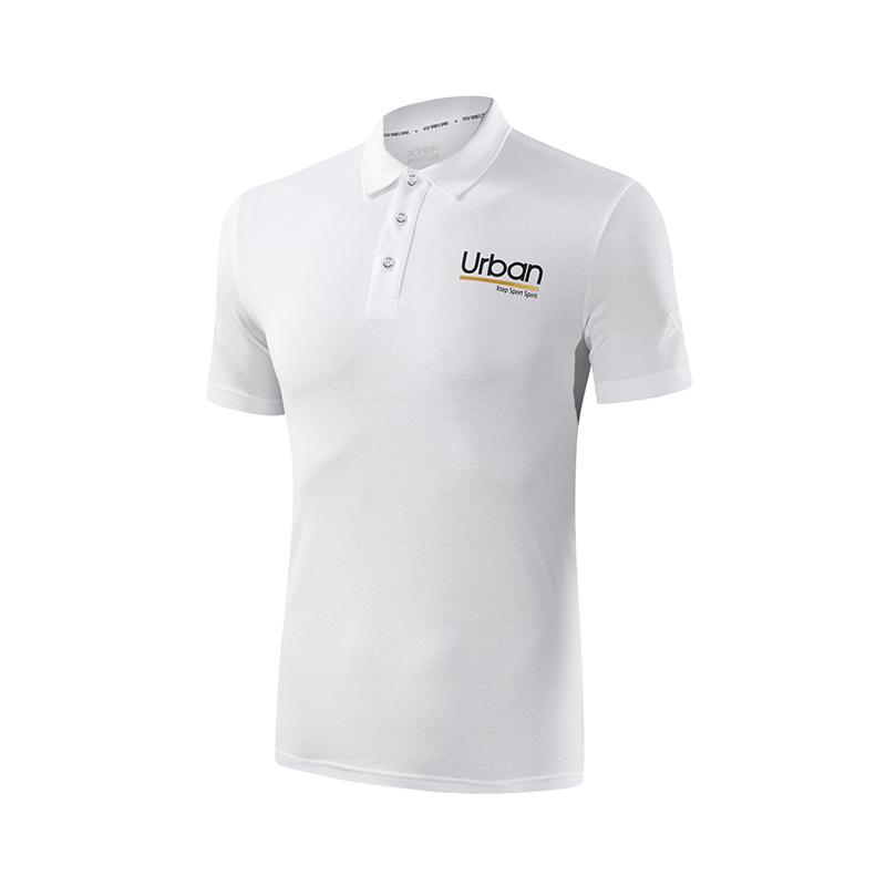 特步 专柜款 男子短袖针织衫  都市休闲POLO衫982229021048
