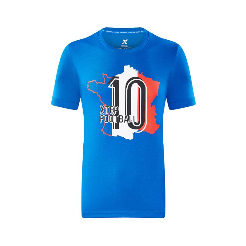 【特步&世界杯】特步 专柜款 男子运动短袖2018夏季新款轻薄透气足球系列 982229012038