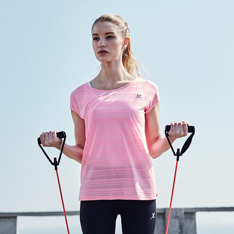 特步 女运动T恤新品 轻便女短袖883128019009