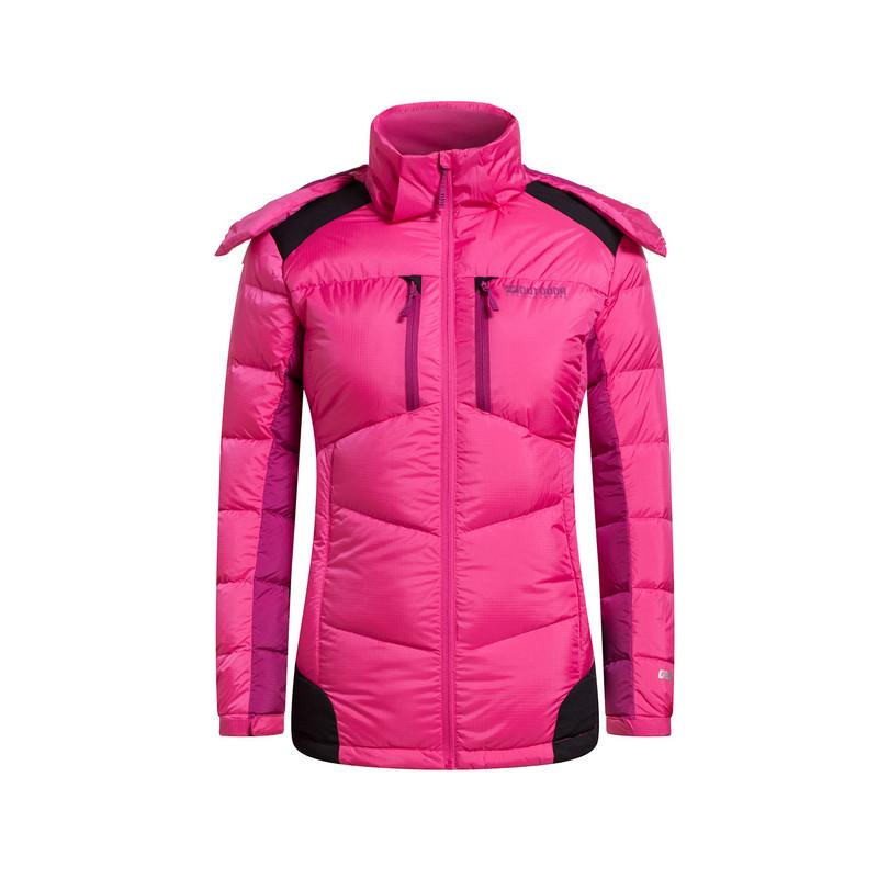 特步 专柜款   冬季新款 长款连帽运动休闲羽绒服外套984428190472