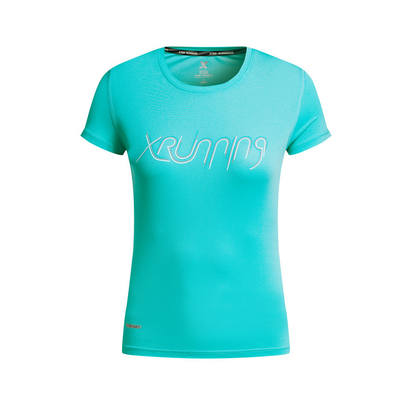 特步 专柜款 女子夏季跑步T恤 运动透气女子短装983228011725