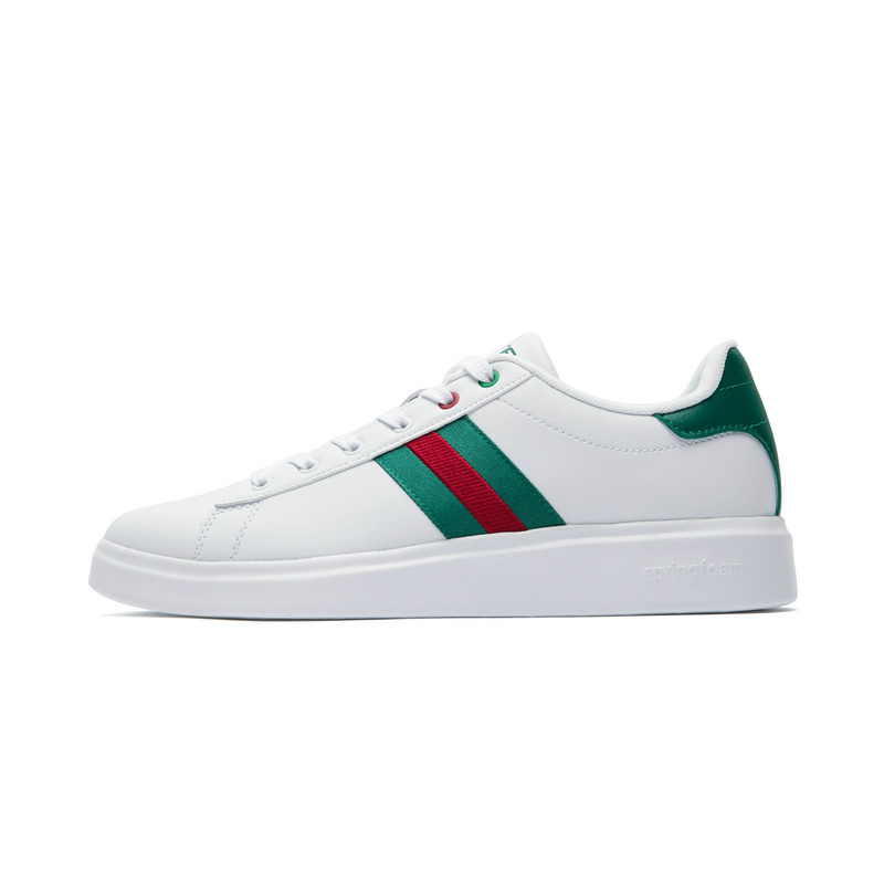 特步 专柜款 男子夏季板鞋 时尚小白鞋982219315915
