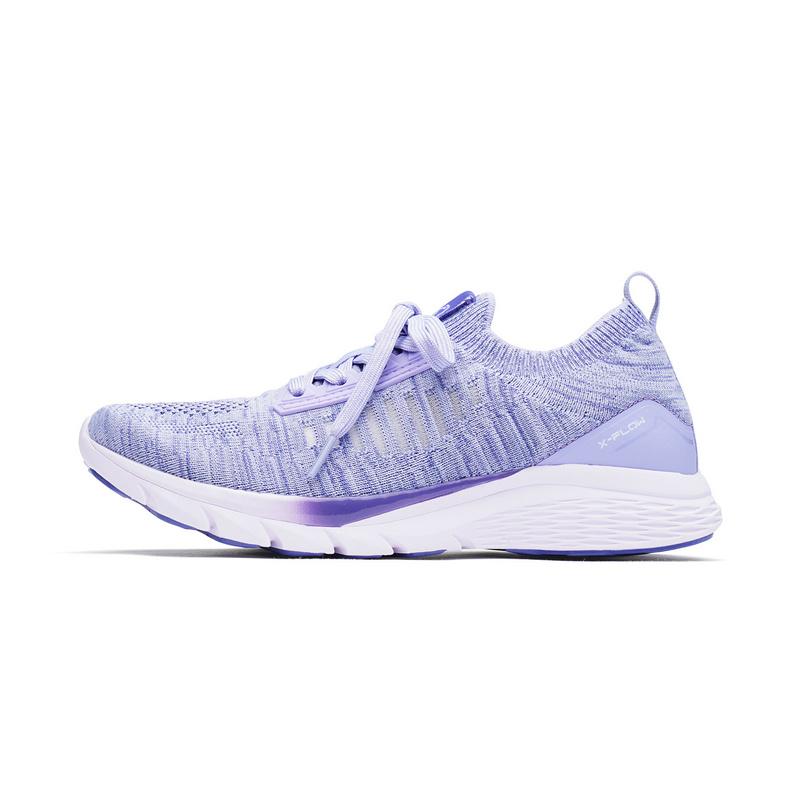 特步 女子跑步鞋 氢风科技新款减震编织袜套鞋女网布透气休闲982218119573
