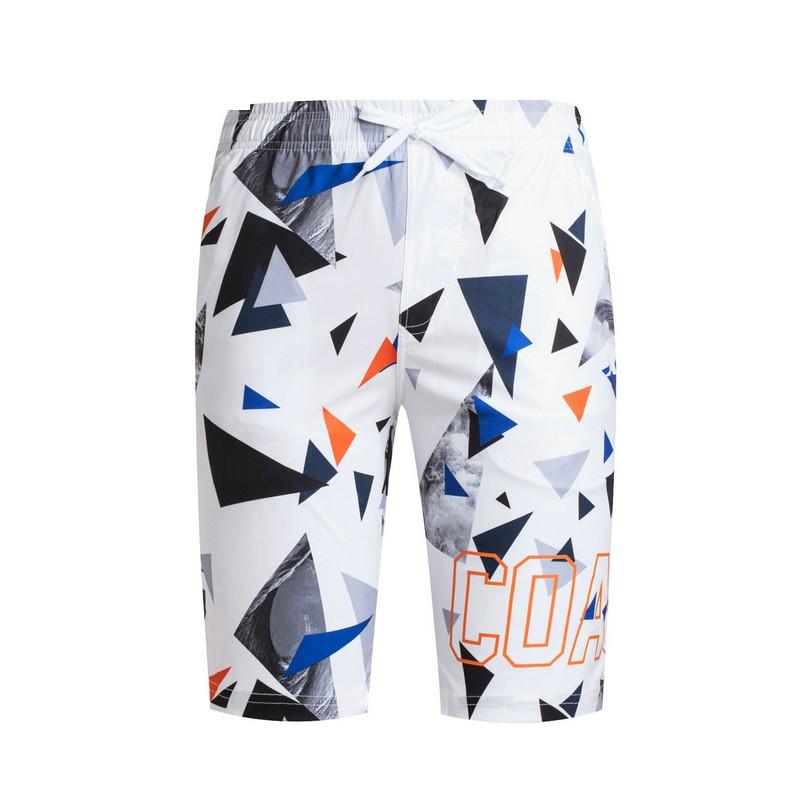 特步 专柜款 男梭织短裤夏季新品 潮流几何印花男五分裤983229970014