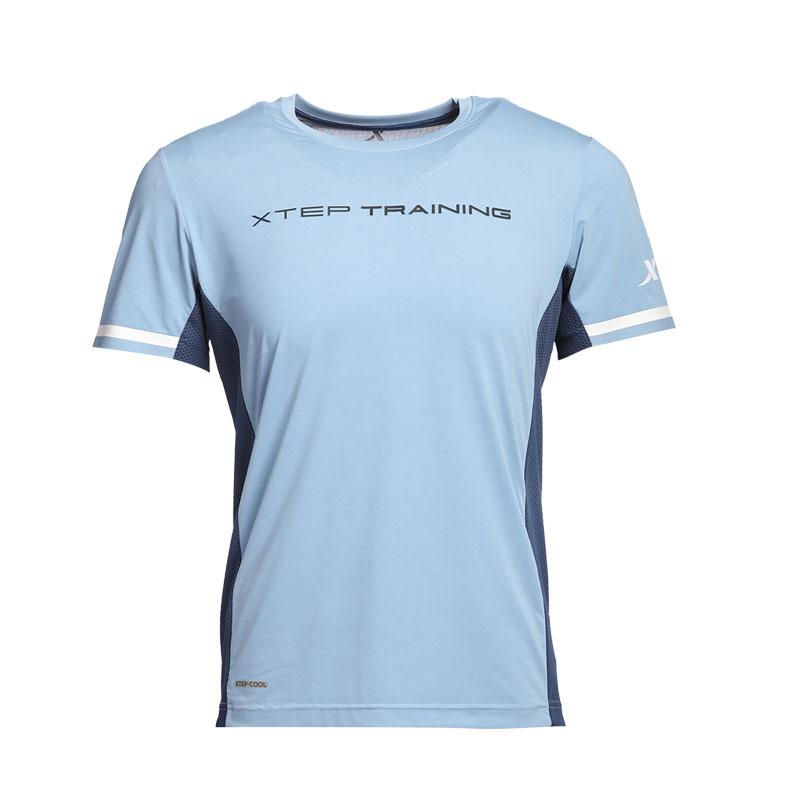 特步 专柜款 男子运动T恤 冰释科技综训运动衫982229012135